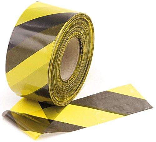 Perel 1188500Barrier Tape 500m in Length x 80mm Width, Yellow/Black