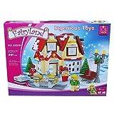 Ausini Winter Wunderland Spielsachen Shop & Motor Schlitten Stadt Creator NEU 591pcs #24809