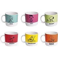 Exclesa 47877 Lot de 6 tasses à café Peanuts