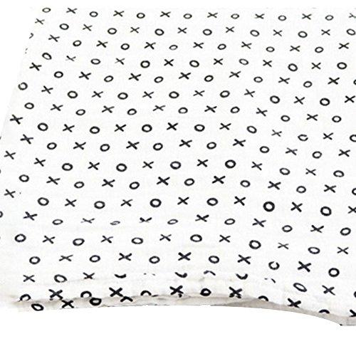 NaiseCore Baby Einschlagdecke, Kreuz Kreis Muster 122* 122cm, Weiche Neugeborene Arm Halt Snuggle Quilt Infant Wrap Decke, 1Pcs -