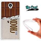 Becool® Fun - Funda Gel Flexible para Huawei Ascend Y635 .Carcasa TPU fabricada con la mejor Silicona, protege y se adapta a la perfección a tu Smartphone y con nuestro diseño exclusivo Tableta de chocolate