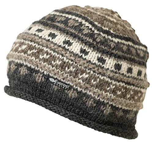 Everest Designs Fancy Roll Hat, Unisex, Roll Beanie, braun, One Size -
