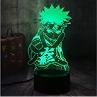Night Light Naruto Anime Naruto 3D Led Usb Table Sommeil Lampe Home Decor Enfant Garçon Enfant Jouet De Noël Cadeau