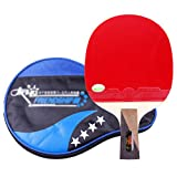 X&M Ping Pong Paddel - 1 Pro Premium tischtennisschläger,Beste Profi tischtennisschläger mit hochleistungs-Kautschuk,Racket Geschenk Bag-H