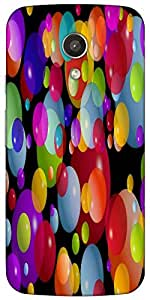 Snoogg Colorful Bubbles 2606 Case Cover For Motorola G / Moto G 2Nd Generation
