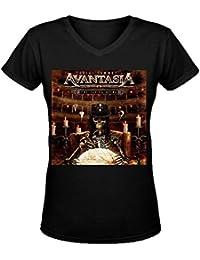 Avantasia The Flying Opera Around The World In 20 Days Casual Women V-Neck Tee Shirts XXXX-L