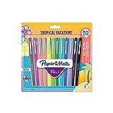 PaperMate Flair stylo-feutre, pointe moyenne 1,1mm, couleurs Tropical, lot de 12