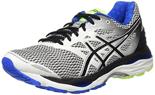 Asics Gel-Cumulus 18, Scarpe Sportive Outdoor Uomo Bianco (White/Black/Electric Blue)