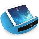 padRelax® Casual Hellblau Halter für eBook-Reader und Tablets bis 10.5 Zoll, Made in Germany, für Bett, Sofa, Tisch und jedes Apple iPad, Samsung Galaxy Tab.