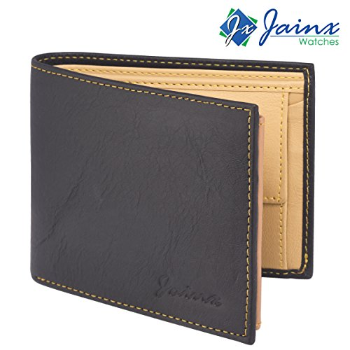 Jainx Stylish Black Wallet For Men & Boys - JMW708