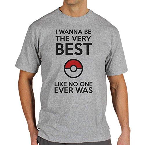Pokemon Go Gotcha Pikachu Like No One Best Quality Herren T-Shirt Grau