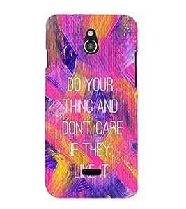 EPICCASE Don't Care Mobile Back Case Cover For Infocus M2 (Designer Case)