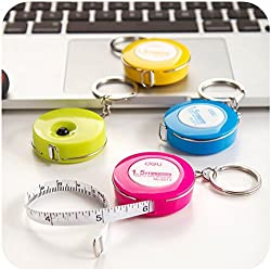 2pc Domire Candy Color Keychain Tape Measure 1.5m Tape Retractable Soft Tape Small Tape Ruler Stretch