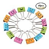 Ccinee, mini graffette per raccoglitore da 19mm Mini colorate con faccine sorridenti