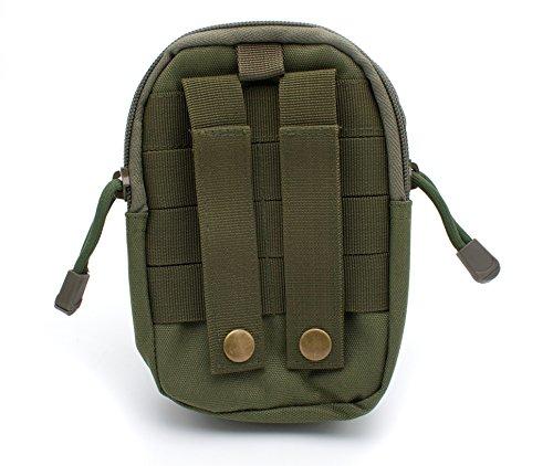 Tactical MOLLE Tasche EDC Utility Taille Gürtel Gadget Gear Tasche Tool Organizer mit Handy Holster Halter für iPhone 6S 6Plus 5S 5C Samsung Galaxy Note 543LG (Armee Grün) Handy-holster Halter