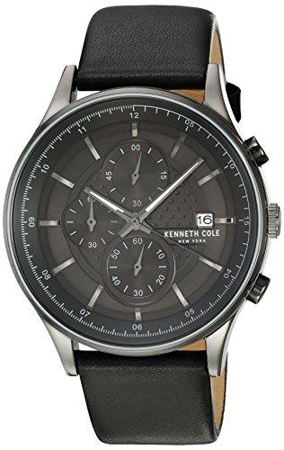 Kenneth Cole New York Orologio da uomo orologio da polso Chron ograh Pelle kc15101002