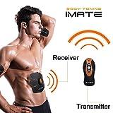Elettrostimolatore attrezziperaddominali Dimagrire Cintura Muscoli Fitness AB Trainer -Wireless Telecomando- Senza fili a 6 contatti - 15 livelli di intensità graduali