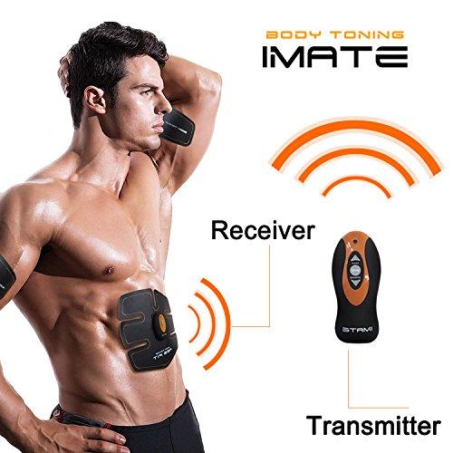 Smart cámara abdominales unisex cinturón de electroestimulación abdominal para deporte perdre del peso un vientre plano y des abdos bien dessinés