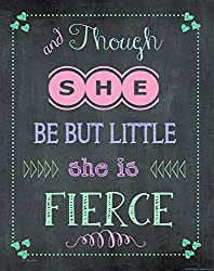 Heritage 1093 She is Fierce Wall Decor, 14 x 11-Inch, Chalkboard