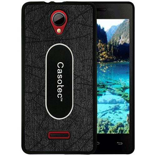 Casotec Metal Back TPU Back Case Cover for Micromax Canvas Fun A76 - Black  available at amazon for Rs.319