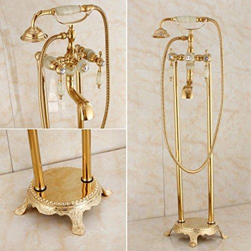 ZHWY Dusche vergoldet Chaise Badewanne Landing Dusche Badezimmer alle Bronze Jade Duschkopf -