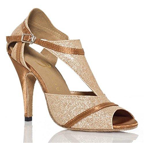 Scarpe da donna Sala da ballo latino Taogo Danza Dimensioni pompe 36To41 8.5cm Heel