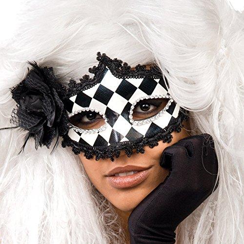 Satin Harlekin Maske (Carnival Toys 00812 - Maske,)