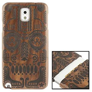 Woodcarving National Style Symmetry Pattern Detachable Rosewood Material Case for Samsung Galaxy Note 3 N9000