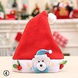 calistouk tapas de gorro de Papá Noel para niños, diseño de gorro de Navidad decoración de Navidad los niños gorro de Papá Noel Mini sombrero