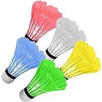 Renfox LED Bádminton, Volante de Bádminton, Pelota LED de Bádminton para Actividades, Deportes de Exterior e Interior, Conjunto de 5 PCS