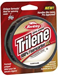 Berkley Trilene - Sedal de fluorocarbono para pesca, color transparente, talla 8 lb