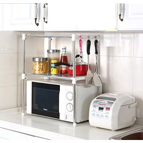 Xiton Küchen Racks Edelstahl Lagerung Mikrowelle Regal Zahnstange 12
