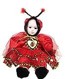 ropa nueva máscara de carnaval de Halloween juego cosplay del traje por el carácter mariquita onesie del bebé recién nacido enteras chanclos auriculares alas velo bebé recién nacido sz 18 meses