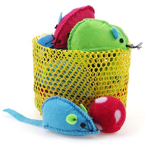 chiwava Colorful Mäuse mit Rassel Ball Katze Spielzeug-Set ...