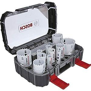 Bosch Professional Endurance for Heavy Duty Set de uso universal con 13 unidades de sierras de corona de carburo (accesorios para taladro)