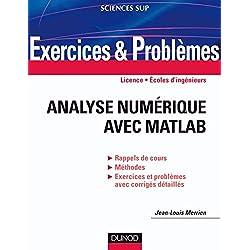 Exercices et problèmes d'Analyse numérique avec Matlab: Rappels de cours, corrigés détaillés, méthodes