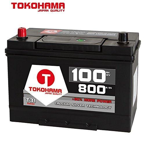 Tokohama Asia Japan Autobatterie 12V 100AH 800A/EN + Plus Pol Links 60033