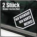 Kiwistar Nix, Nix Karte, Meins! 10x 7 cm IN 15 Farben - Neon + Chrom! Sticker Aufkleber