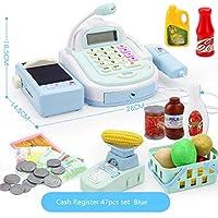 RFJJAL 47 Unids Niños Caja registradora para niños Juegos de imaginación Supermercado Tienda hasta Juguetes con