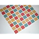 Paper theme - Adesivi per piastrelle, confezione da 10, motivo mosaico spagnolo, colore: multicolore/rosso Per cambiare rapidamente l'aspetto del bagno o il rivestimento della cucina, autoadesivo, rapido, nessun caos eseguendo il lavoro.
