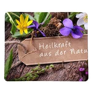 tappetino per mouse le erbe in fiore - potenza della natura di guarigione - rettangolare - 23cm x 19 cm