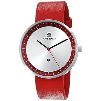 Jacob Jensen Reloj analógico para Unisex de Cuarzo con Correa en Piel STRATA Series 273