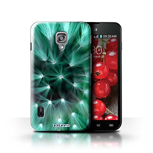 Kobalt® Imprimé Etui / Coque pour LG Optimus L7 II Dual / Pourpre conception / Série Couleur/Lumière Fleur Turquoise