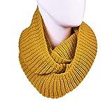ODJOY-FAN scialle lungo a collo alto lavorato maglia con ad anello fili invernali donna-inverno caldo uncinetto infinity loop nappe morbide sciarpe dell'involucro della sciarpa