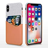BIGPHILO iPhone XS Coque étui Protecteur en Toile pour Apple iPhone XS 2018,...