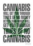Postkarte Times of no Cannabis