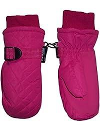 N 'ice tapas niños y Thinsulate guantes de esquí impermeable acolchada