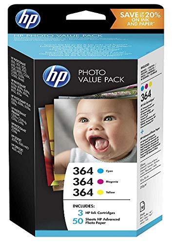 HP 364 Photo Value PackTintenpatronen und 50Fotopapier-Bögen 10x 15cm -