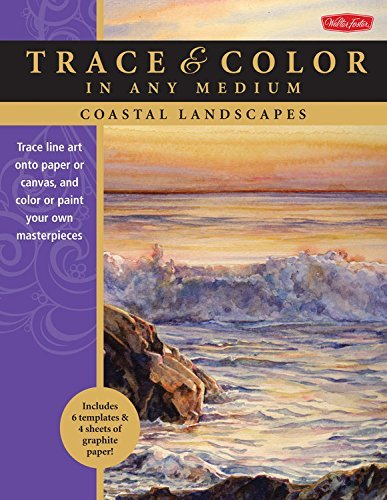 Coastal Landscapes: Trace line art onto paper or canvas, and color or paint your own masterpieces (Trace & Color) by Thomas Needham (2015-03-19)