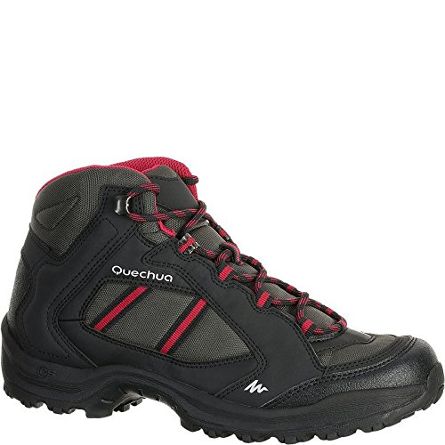 QUECHUA ARPENAZ 50 MID WOMEN'S WALKING BOOTS – BLACK PINK